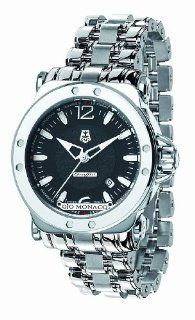 Gio Monaco Men's 758 S Graffiti Automatic Black Dial Stainless Steel Watch at  Men's Watch store.