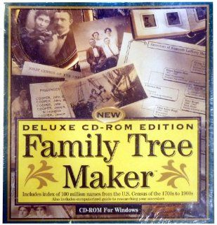 Family Tree Maker Deluxe Cd rom Edition, Banner Blue Software, 1994 Software