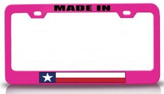 MADE IN TEXAS State Flag Steel Metal License Plate Frame Pn # 83 Automotive