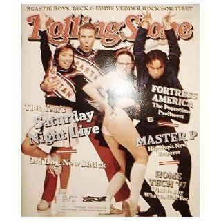 Rolling Stone Magazine, Issue 774, Saturday Night Live cover Jann S. Wenner Books