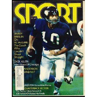 Sport Magazine December 1972 (Fran Tarkenton cover & feature) (Vol. 54, No. 6) Joe Namath, Derek Sanderson, Tommy Prothro, Duane Bobick, Teofilo Stevenson Books