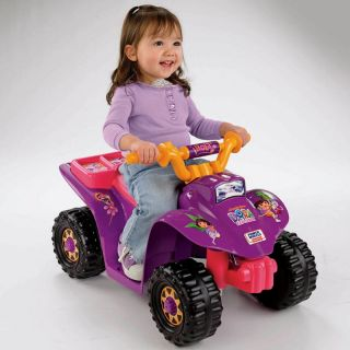Fisher Price Power Wheels Dora 10th Anniversary Lil Quad ATV Battery Powered Riding Toy   Battery Powered Riding Toys