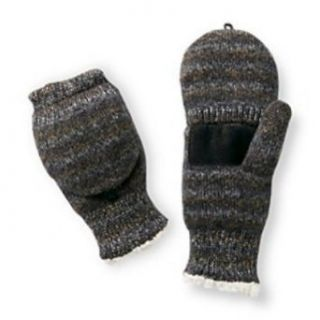 Isotoner Womens Black Convertible Flip Top Fingerless Gloves Sherpa Soft Mittens at  Women�s Clothing store
