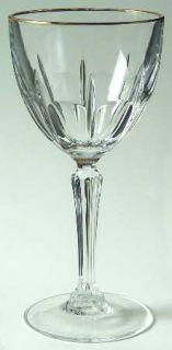 Cristal DArques Durand Bergerac Gold Wine Glass   Cut, Gold Trim