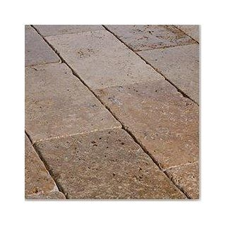 "Travertine Pavers Turkish Series Noche / Tumbled / 6""x12""x1 1/4"" : Outdoor And Patio Products : Patio, Lawn & Garden"