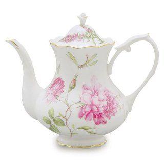 Gracie China Dahlia Porcelain 4 Cup Teapot Kitchen & Dining