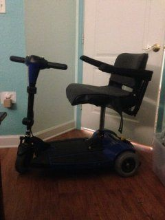Go Go Ultra X 3 Wheel Travel Mobility Scooter   Blue Health & Personal Care
