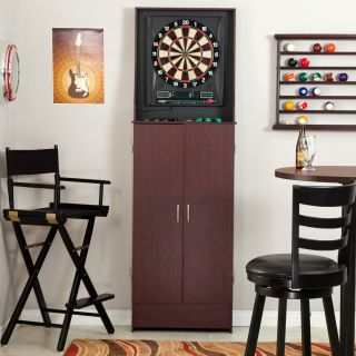 Halex Barrington Arcade Style Electronic Dart Board in Free Standing Cabinet   For Steel Tip or Soft Tip Darts   Bristle Dart Boards
