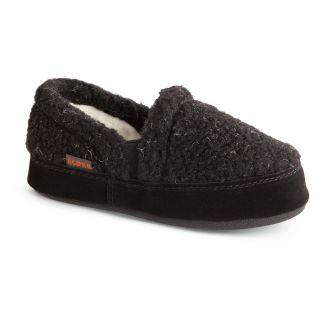 Acorn Kids Colby Gore Moc Slippers   Black Berber   Kids Slippers