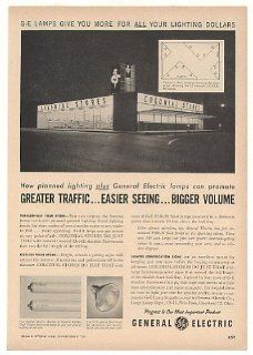 1956 Colonial Stores GE General Electric Lamps Trade Print Ad