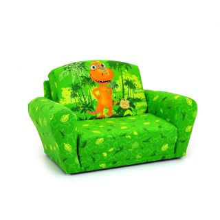 Kidz World Dinosaur Train   Buddy Green Sleepover Sofa