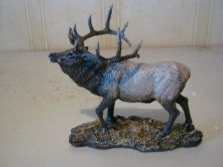 Small Full Elk Resin Figurine Wildlife Statue 825   Collectible Figurines