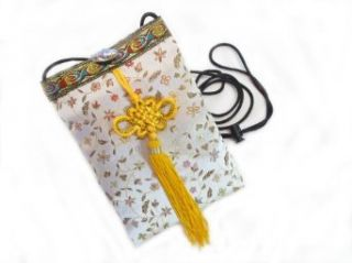 Women's Handmade Brocade Fabric Cross Body Smartphone Case/Pouch Style N: Clothing
