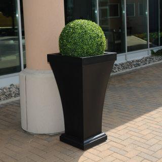 NOVO Oxford Bordeaux Commercial Grade 40 in. Tall Planter Set