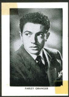 Actor Farley Granger wallet size fan club pic 1950s: Entertainment Collectibles