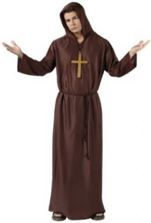 Morris Men's Monk Priest Medieval Friar Costume One Size Brown: Adult Sized Costumes: Clothing