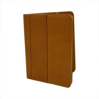 Piel Leather iPad Flip Case   Saddle   iPad and Tablet Cases
