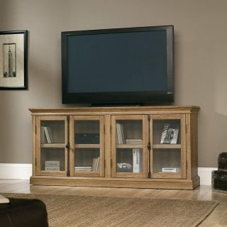 Sauder Barrister Lane Storage Credenza TV Stand   Scribed Oak   TV Stands