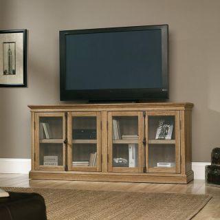 Sauder Barrister Lane Storage Credenza TV Stand   Scribed Oak   TV Stands