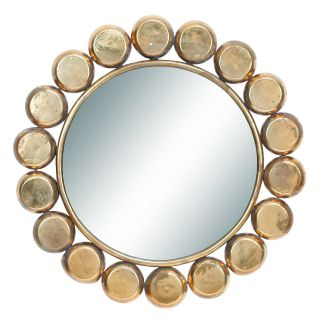 Industrial Chic Wall Mirror   33 diam. in.   Wall Mirrors