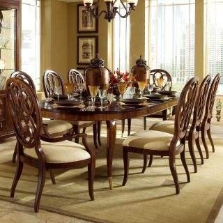 American Drew Bob Mackie Signature 9 pc. Oval Dining Table Set with Splat Back Chairs   Dining Table Sets