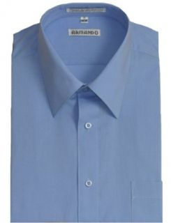Men's Peacock Blue Dress Shirt with Convertible Cuffs at  Men�s Clothing store