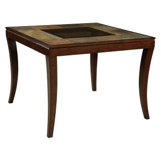 Standard Furniture Laguna Slate Top Counter Height Dining Table with Glass Inset   Dining Tables