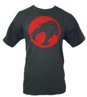 Thundercats Mens T Shirt   Classic 80's Cartoon Cat Logo (Extra Large) Dark Grey Clothing