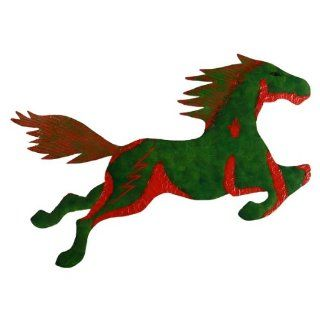 Metal Galloping Horse Hand Painted   Wall Sculptures