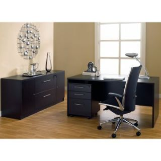 Jesper Managers Desk and Credenza with Optional Chair   Desks