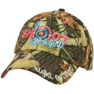 Ladies Camo I Shoot Like a Girl Cool Adjustable Ball Cap Hat 57cm+ Camouflage