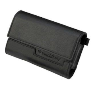 RIM BlackBerry 373212 (ASY 15476 004) Leather Horizontal Pouch   8300 Series   Black   New: Cell Phones & Accessories