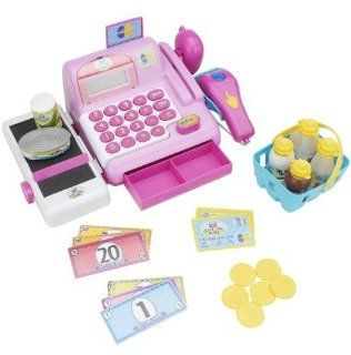 Just Like Home Electronic Cash Register   Pink: Toys & Games