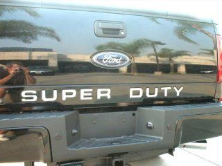 08 12 Ford F250/F350 Letter SUPER DUTY Tailgate Chrome Stainless Steel Molding Moulding Trim Cover 9PC Automotive