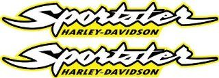Yellow Harley Davidson Sportster 883 1200 Decals Stickers Bobber Graphics HD Gas Tank MOtorcycle: Everything Else
