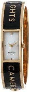"""kate spade new york Women's 1YRU0206 """"Lights Camera Action"""" Carousel Gold Plated Stainless Steel Watch at  Women's Watch store."""