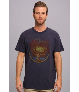 Obey Nuclear Summer Tri Blend Tee Mens Short Sleeve Pullover (Navy)