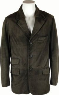 UNICORN Mens Classic Suit Blazer Real Leather Jacket Green Suede #BO (M) at  Men�s Clothing store