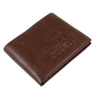 English Letters Print Faux Leather Bifold Wallet Brown for Men at  Men�s Clothing store: