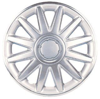 """Drive Accessories KT898 16CS 16"""" Plastic Wheel Cover, Silver Lacquer And Chrome With Brushed Aluminum Look: Automotive"""