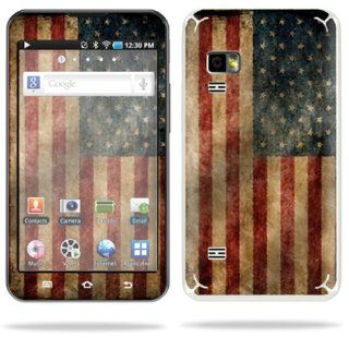 MightySkins Protective Vinyl Skin Decal Cover for Samsung Galaxy Player 5.0 MP3 Player Android WiFi Sticker Skins Vintage Flag: MP3 Players & Accessories