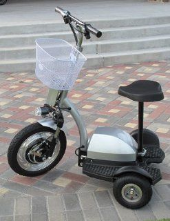 Q33 400 Watt 3 Wheel Electric Mobility / Utility Scooter  Seated Sports Scooters  Sports & Outdoors