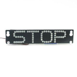 Auto Vehicle Car Stop Sign Red 66 LED Flash Warning Light Black w Four Suction Cup Automotive