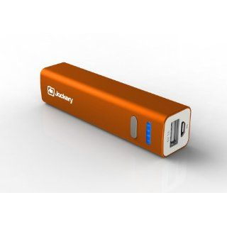 Jackery Mini 3200mAh Premium Ultra compact Aluminum Portable Charger External Battery Backup Power Bank. Small Size, High Capacity, Fast Charging. For Apple iPhone 5S, 5C, 5, 4S, iPad, Air, Mini, Samsung Galaxy S4, S3, Note, Nexus, LG, HTC, Moto. (Orange)