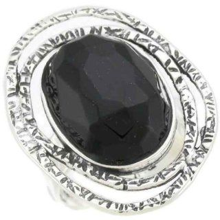 Silver Jewelry, 925 Sterling Silver Ring. Large Oval Open Spirals and Antiquated Hammered Design. Synthetic Black Onyx Facete Oval 18/25 Mm Stone. Custom Hand Made and Designed in Israel By Bili Silver. Shipped Directly From Tel Aviv Israel in a Gift Box.