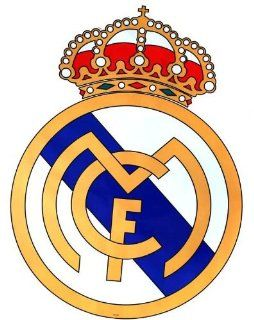 "Giant Size Real Madrid Football Club Badge Wall Sticker Sticker, foot Ball Star Wall Decal, 33"" X 22""   Childrens Wall Decor"