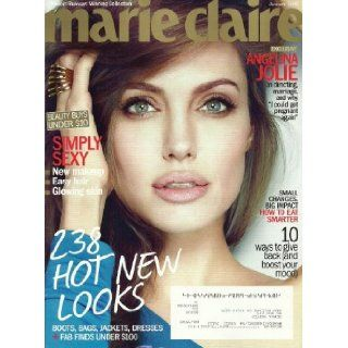 Marie Claire Magazine January 2012 Angelina Jolie, Simply Sexy, Project Runway Winning Collection Editor in Chief Joanna Coles Books