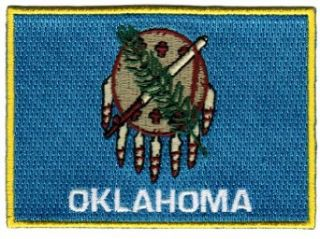 Oklahoma State Flag Embroidered Patch Iron On OK Emblem Clothing