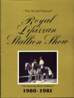 Royal Lipizzan Dancing White Stallion Show 1980 1981 booklet Entertainment Collectibles