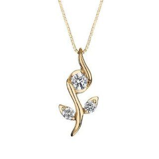 Sirena Rose Diamond Pendant 1/8ctw: Jewelry
